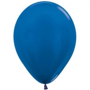 Öko-Luftballon Blau Metallic