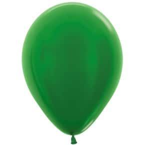 Öko-Luftballon Grün Metallic