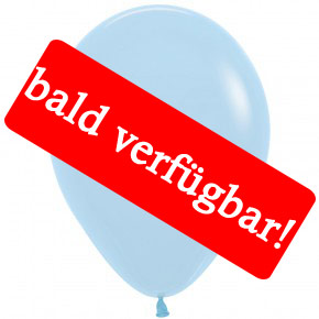 Bald verfügbar: Öko-Luftballon Hellblau