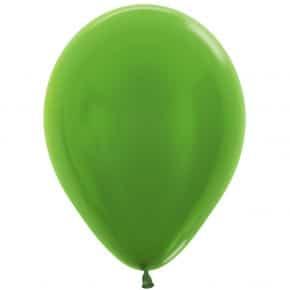 Öko-Luftballon Hellgrün Metallic