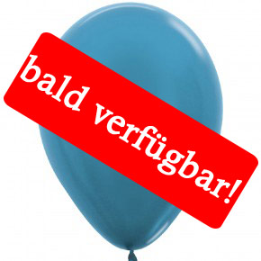 Bald verfügbar: Öko-Luftballon Karibikblau-Metallic