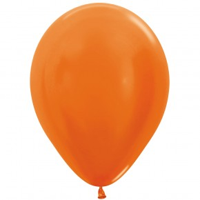 Öko-Luftballon Orange Metallic