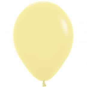 Öko-Luftballon Pastellgelb matt
