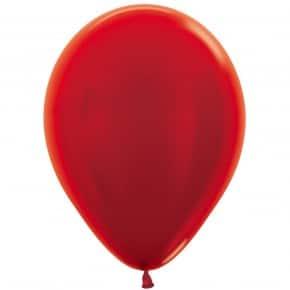 Öko-Luftballon Rot Metallic