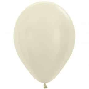 Öko-Luftballon Samt Elfenbein