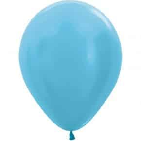 Öko-Luftballon Samt Karibikblau