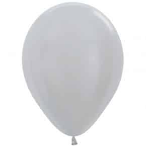 Öko-Luftballon Samt Silber
