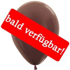Bald verfügbar: Öko-Luftballon Schokoladenbraun-Metallic