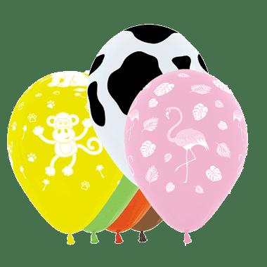 Bio-Luftballons mit Tieremotiven