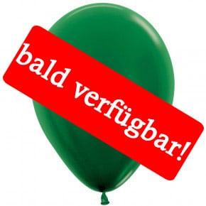 Bald verfügbar: Öko-Luftballon Waldgrün-Metallic