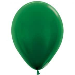 Öko-Luftballon Waldgrün Metallic