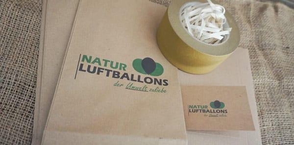 Öko-Luftballon Natur Verpackung