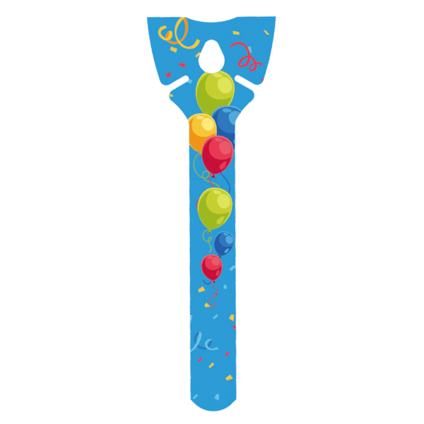 Öko Luftballon-Halter blau aus Pappe ohne Plastik