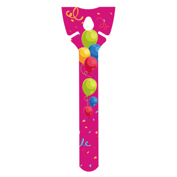 Öko Luftballon-Halter pink aus Pappe ohne Plastik
