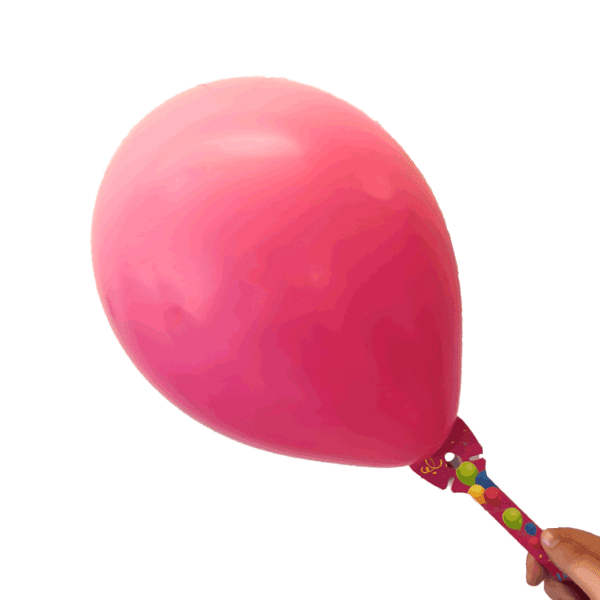 Öko Luftballon-Halter pink aus Pappe ohne Plastik mit Luftballon
