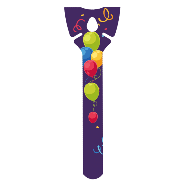 Öko Luftballon-Halter violett aus Pappe ohne Plastik