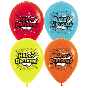 Happy Birthday Comic Luftballons 30 cm
