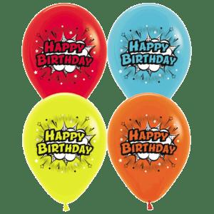 Happy Birthday Comic Luftballons 30 cm