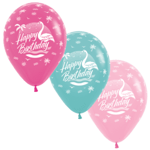 Happy Birthday Flamingo Luftballons 30 cm