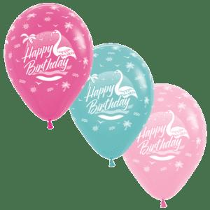 Happy Birthday Flamingo Luftballons 30 cm