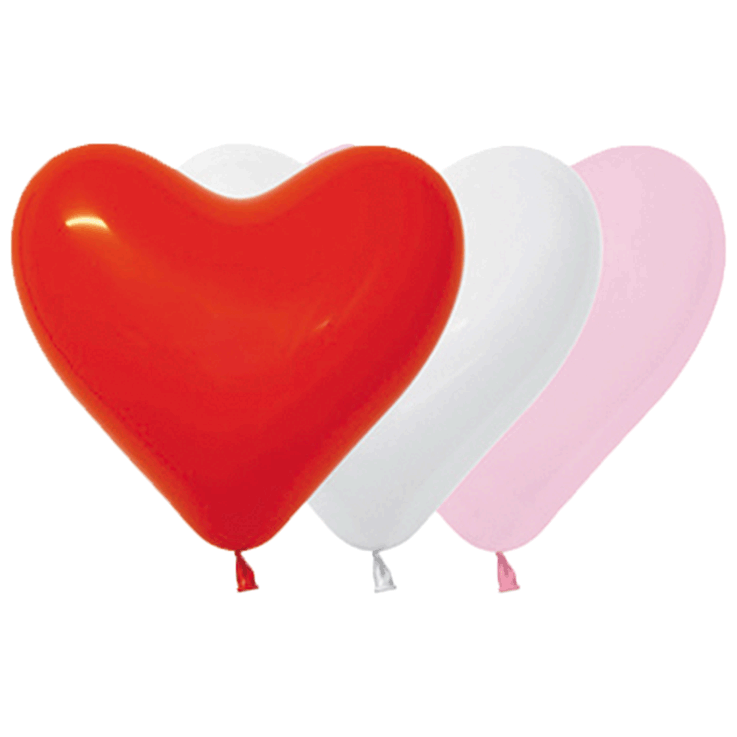Bio Herz-Luftballon 15cm Love Mischung: Weiß 005