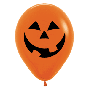 Luftballon Halloween Gesicht Kürbis orange