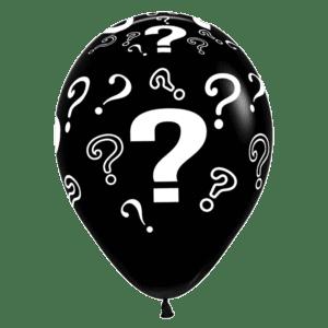 Luftballon mit Fragezeichen schwarz 30cm