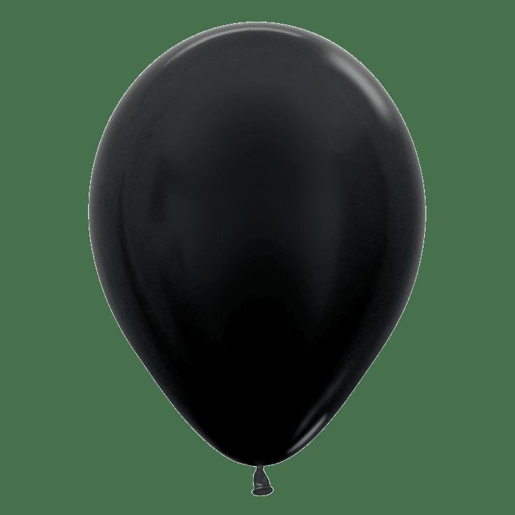 Bio Luftballon 30cm schwarz metallic