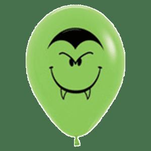 Mini-Luftballon Vampir Gesicht Blutsauger hellgrün