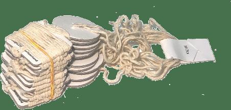 Luftballon-Halteband aus Pappe und Baumwolle öko 2