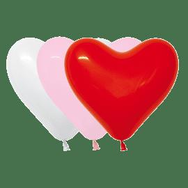 3 umweltfreundliche Herzluftballons
