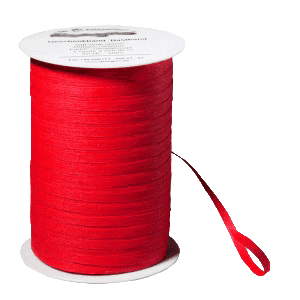 Rotes Bio-Geschenkband aus Baumwolle