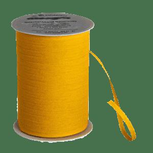 Gelbes Bio-Geschenkband aus Baumwolle