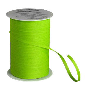 Hellgrünes Bio-Geschenkband aus Baumwolle