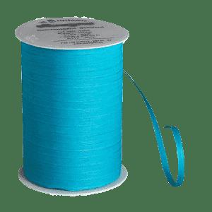 Karibikblaues Bio-Geschenkband aus Baumwolle