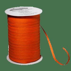 Oranges Bio-Geschenkband aus Baumwolle