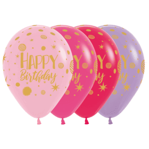 Bio Luftballon Happy Birthday Party Mischung
