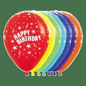 Bio Luftballon Happy Birthday Sterne