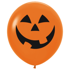 Riesen Luftballon Halloween Gesicht Kürbis orange