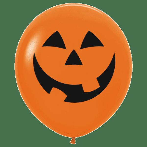 Riesen Luftballon Halloween Gesicht Kürbis orange