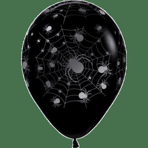 Halloween Luftballon 30 cm Spinnennetz silber