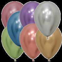 Luftballons 30 cm in Chromglanz-Farben